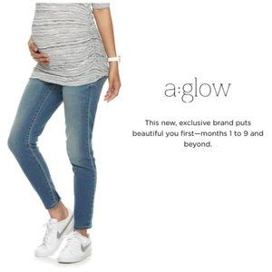 a:glow Maternity Womens Jeans Jeggings Sz 18 NWT